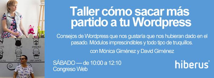 Taller Sacar Más Partido a WordPress en Congreso Web