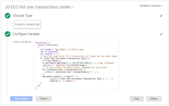 Identificar transacción repetida en Google Analytics