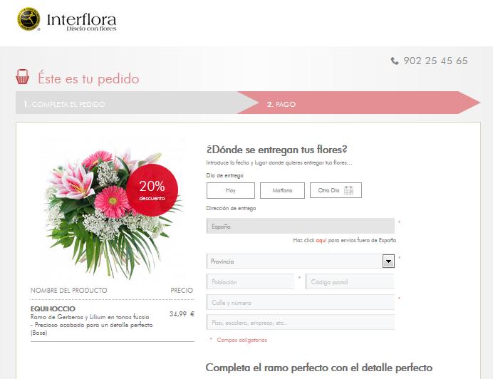 Checkout Interflora