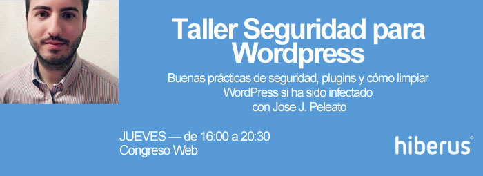 Taller Seguridad para WordPress en Congreso Web