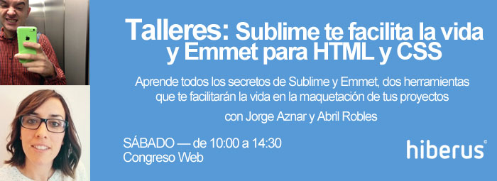 Taller Sublime en Congreso Web