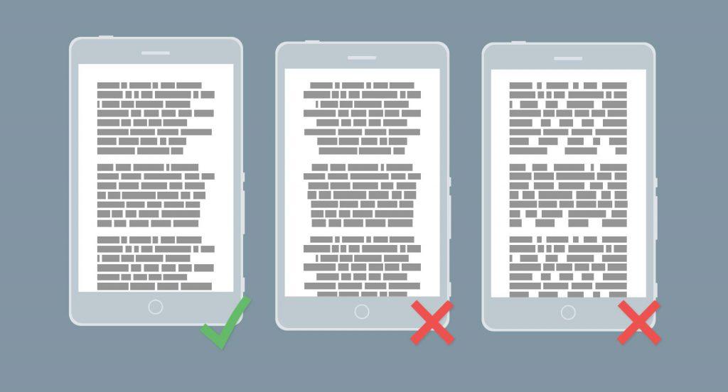 Texto justificado movil