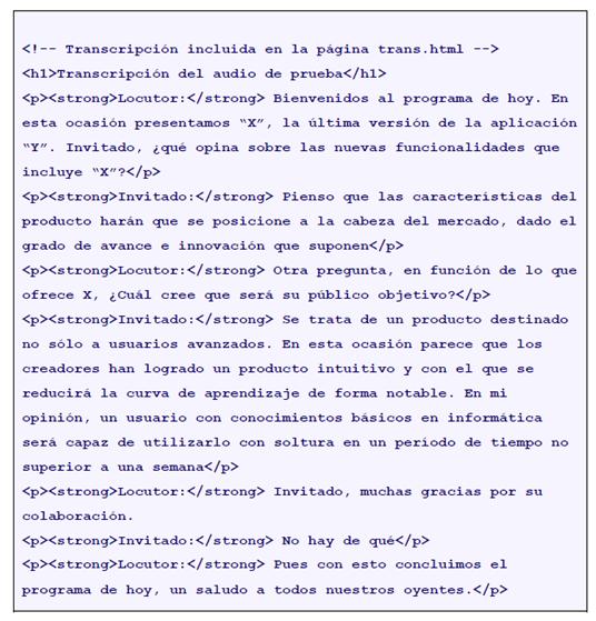 transcripccion texto usabilidad