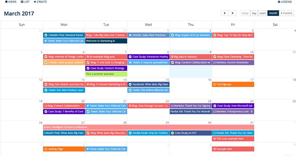 calendario contenidos inbound