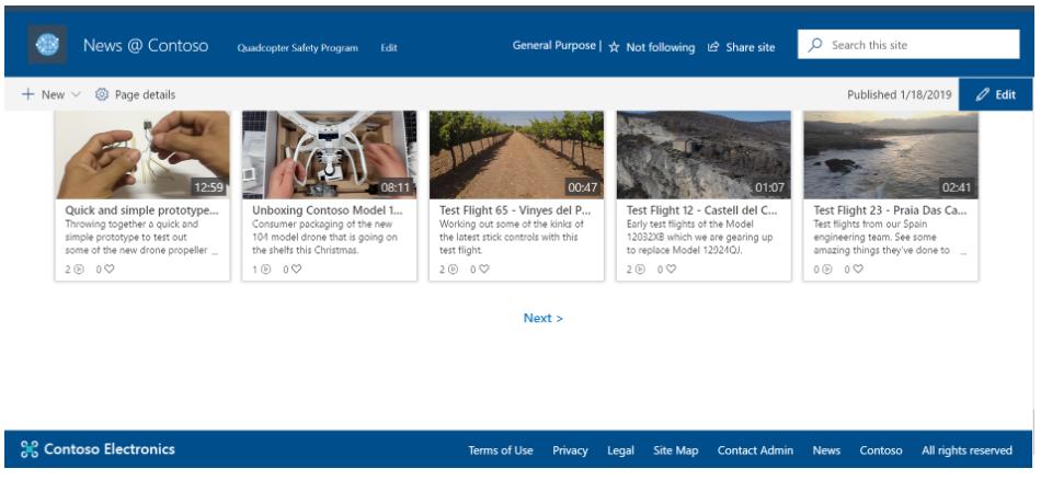 Cabeceras y pies de página sharepoint