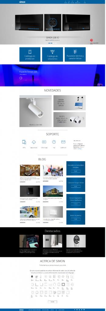 nueva web simon