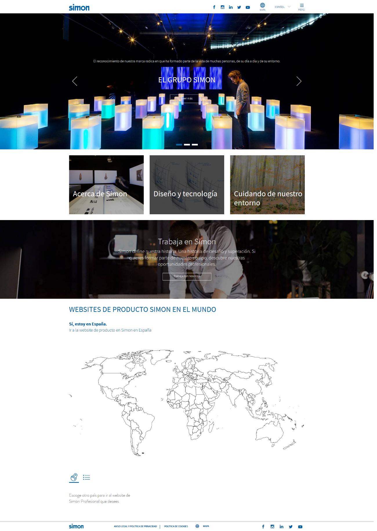 web corporativa simon
