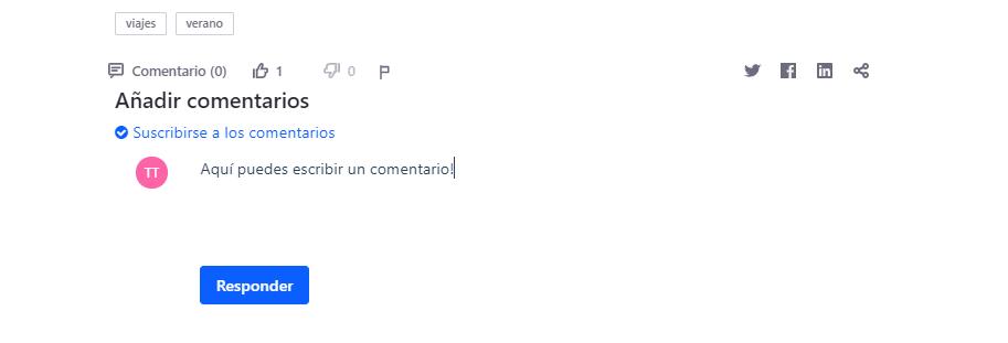 Añadir comentarios blog liferay