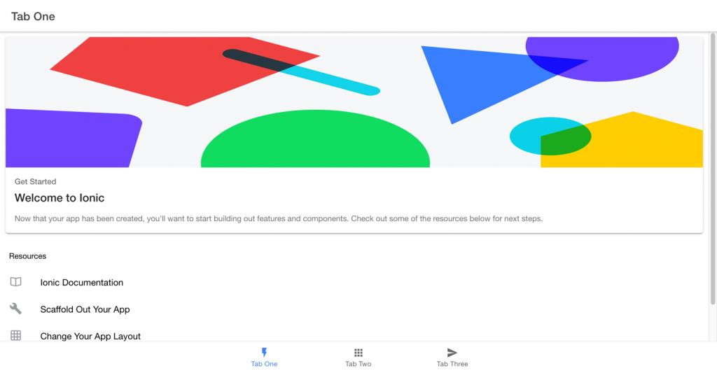 Imagen para explicar como crear la aplicación cliente IONIC