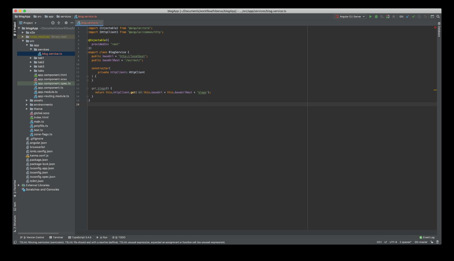 Imagen para explicar la creación del servicio encargado de llamar al API REST