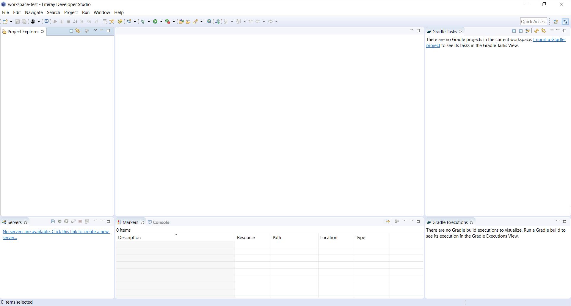 Configuración del Liferay Developer Studio: apariencia del IDE