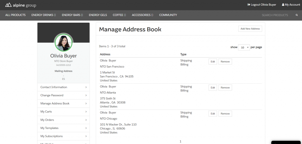 Manage Adress Book