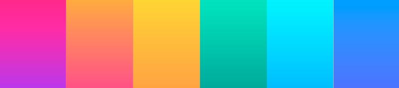 colores saturados y degradados