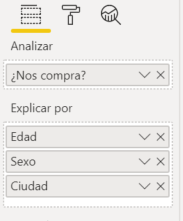 Cómo configurar visual de influenciador clave en Power BI