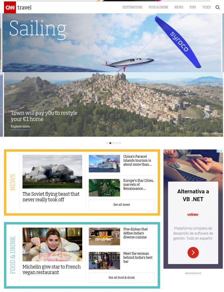 El portal vertical dedicado a viajes de la CNN
