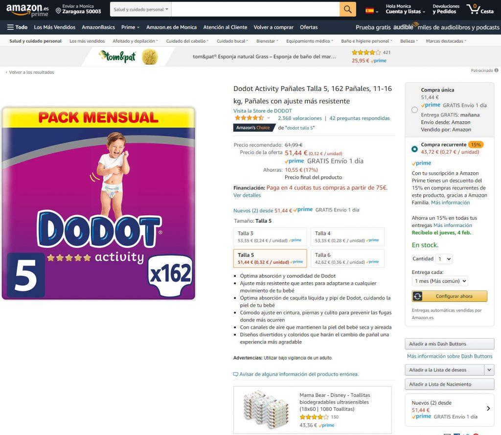 Amazon Compra Recurrente