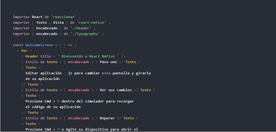 framework multiplataforma React Native